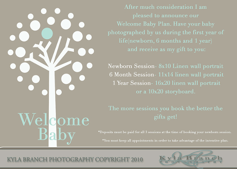 Welcome baby baby incentive plannewborn photographer